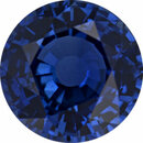 Eye-Catching Sapphire Loose Gem in Round Cut, Medium Violet Blue, 7.15 mm, 1.82 Carats