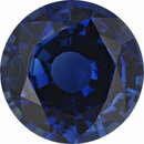 Quality Sapphire Loose Gem in Round Cut, Medium Violet Blue, 6.94 mm, 1.43 Carats