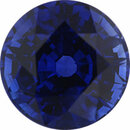 Attractive Sapphire Loose Gem in Round Cut, Medium Violet Blue, 6.93 mm, 1.89 Carats