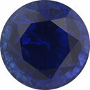 Unique Sapphire Loose Gem in Round Cut,  Vibrant Violet Blue, 6.52 mm, 1.73 Carats