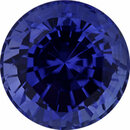Deal On Sapphire Loose Gem in Round Cut, Medium Vibrant Blue Violet, 7.5 mm, 2.32 Carats