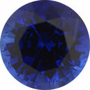 Beautiful Sapphire Loose Gem in Round Cut, Vibrant Violet Blue, 7.49 mm, 2.13 Carats