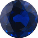 Top Gem Sapphire Loose Gem in Round Cut, Dark Violet Blue, 6.96 mm, 2.09 Carats