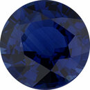 Superb Sapphire Loose Gem in Round Cut, Vibrant Violet Blue, 7.25 mm, 1.69 Carats