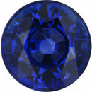 Natural Sapphire Loose Gem in Round Cut, Vibrant Violet Blue, 7 mm, 1.88 Carats