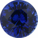 Fine Sapphire Loose Gem in Round Cut, Medium Blue Violet, 7.47 mm, 2.16 Carats