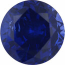Beautiful Sapphire Loose Gem in Round Cut, Vibrant Violet Blue, 5.77 mm, 1.18 Carats