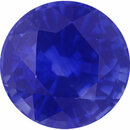 Deal On Sapphire Loose Gem in Round Cut,  Vibrant Blue Violet, 6.1 mm, 1.18 Carats