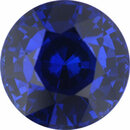 Real Sapphire Loose Gem in Round Cut, Vibrant Violet Blue, 6.6 mm, 1.45 Carats