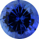 Superb Sapphire Loose Gem in Round Cut, Dark Vibrant Violet Blue, 5.52 mm, 0.84 Carats