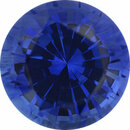Very Fine Sapphire Loose Gem in Round Cut, Vibrant Blue Violet, 7.07 mm, 1.74 Carats
