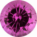 Loose Sapphire Loose Gem in Round Cut, Light Purple Pink, 5.5 mm, 0.84 Carats