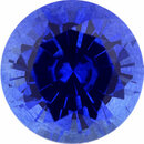 Top Gem Sapphire Loose Gem in Round Cut,  Medium Violet Blue, 6.2 mm, 1.22 Carats