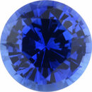 Quality Sapphire Loose Gem in Round Cut,  Medium Violet Blue, 6.14 mm, 1.1 Carats