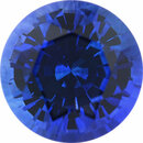 Deal On Sapphire Loose Gem in Round Cut, Medium Violet Blue, 6.4 mm, 1.34 Carats