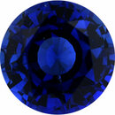 Beautiful Sapphire Loose Gem in Round Cut, Medium Violet Blue, 6.25 mm, 1.16 Carats