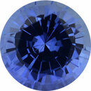 Super Value Sapphire Loose Gem in Round Cut, Light Violet Blue, 5.25 mm, 0.73 Carats