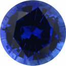 Rich Sapphire Loose Gem in Round Cut, Medium Violet Blue, 5.25 mm, 0.62 Carats