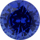 Best Sapphire Loose Gem in Round Cut, Medium Violet Blue, 5.97 mm, 1.12 Carats