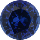 Loose Sapphire Loose Gem in Round Cut, Medium Violet Blue, 7 mm, 1.51 Carats