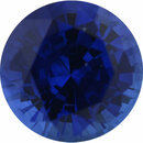 Bargain Priced Sapphire Loose Gem in Round Cut, Medium Violet Blue, 5.73 mm, 0.9 Carats