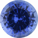Pretty Sapphire Loose Gem in Round Cut, Medium Violet Blue, 5.03 mm, 0.64 Carats