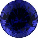 Excellent Sapphire Loose Gem in Round Cut, Medium Violet Blue, 5.25 mm, 0.8 Carats