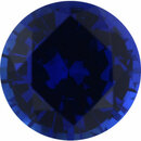 Very Fine Sapphire Loose Gem in Round Cut, Medium Violet Blue, 5.9 mm, 0.9 Carats