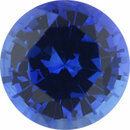 Amazing Sapphire Loose Gem in Round Cut, Medium Violet Blue, 4.92 mm, 0.54 Carats