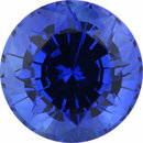 Stunning Sapphire Loose Gem in Round Cut, Medium Violet Blue, 6.92 mm, 1.8 Carats