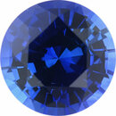 Eye-Catching Sapphire Loose Gem in Round Cut, Medium Violet Blue, 5.28 mm, 0.63 Carats