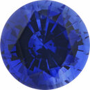 Lovely Sapphire Loose Gem in Round Cut, Medium Violet Blue, 5.18 mm, 0.7 Carats