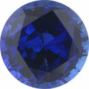 Excellent Sapphire Loose Gem in Round Cut, Medium Violet Blue, 4.96 mm, 0.55 Carats