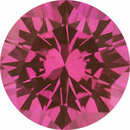 Deal On Sapphire Loose Gem in Round Cut, Light Red Purple, 5.51 mm, 0.77 Carats