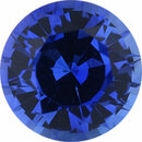 Eye-Catching Sapphire Loose Gem in Round Cut, Medium Violet Blue, 4.98 mm, 0.59 Carats