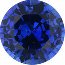 Natural Sapphire Loose Gem in Round Cut, Medium Violet Blue, 7.5 mm, 1.88 Carats