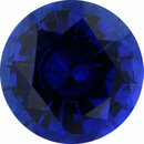 Unique Sapphire Loose Gem in Round Cut, Medium Violet Blue, 6.94 mm, 1.44 Carats