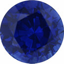 Genuine Sapphire Loose Gem in Round Cut, Medium Violet, 6.47 mm, 1.48 Carats