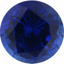 Very Fine Sapphire Loose Gem in Round Cut, Medium Violet Blue, 6.04 mm, 1.08 Carats