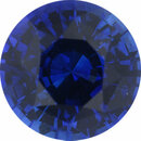 Super Value Sapphire Loose Gem in Round Cut, Medium Violet Blue, 6.37 mm, 1.21 Carats