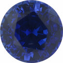 Attractive Sapphire Loose Gem in Round Cut, Medium Violet Blue, 6.01 mm, 1.16 Carats