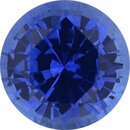 Dazzling Sapphire Loose Gem in Round Cut, Medium Violet Blue, 5.15 mm, 0.67 Carats