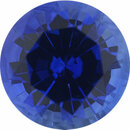 Superb Sapphire Loose Gem in Round Cut, Medium Violet Blue, 5.41 mm, 0.75 Carats