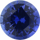 Faceted Sapphire Loose Gem in Round Cut, Medium Violet Blue, 5.94 mm, 0.89 Carats