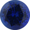 Super Value Sapphire Loose Gem in Round Cut, Medium Violet Blue, 4.92 mm, 0.54 Carats