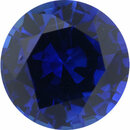 Hard to Find Sapphire Loose Gem in Round Cut, Medium Violet Blue, 5.89 mm, 0.89 Carats