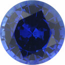 Eye-Catching Sapphire Loose Gem in Round Cut, Medium Violet Blue, 6.4 mm, 1.17 Carats