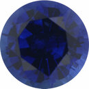 Dazzling Sapphire Loose Gem in Round Cut, Medium Violet Blue, 5.45 mm, 0.76 Carats