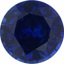 Super Deal On Sapphire Loose Gem in Round Cut, Medium Violet Blue, 6.35 mm, 1.2 Carats