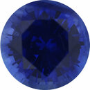 Nice Sapphire Loose Gem in Round Cut, Medium Violet Blue, 5.96 mm, 1.04 Carats
